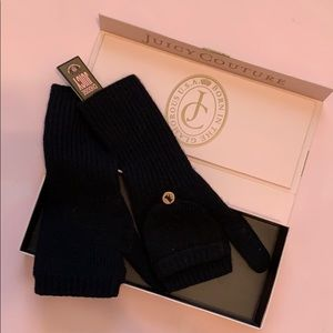 BNWT Juicy Couture Black Mittens